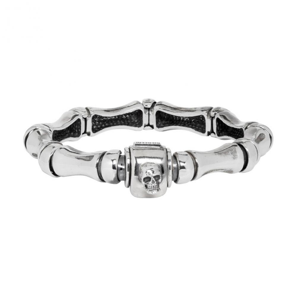 エマニュエレ ビコッキ Emanuele Bicocchi メンズ ジュエリー・アクセサリー ブレスレット【Silver Bone Bracelet】