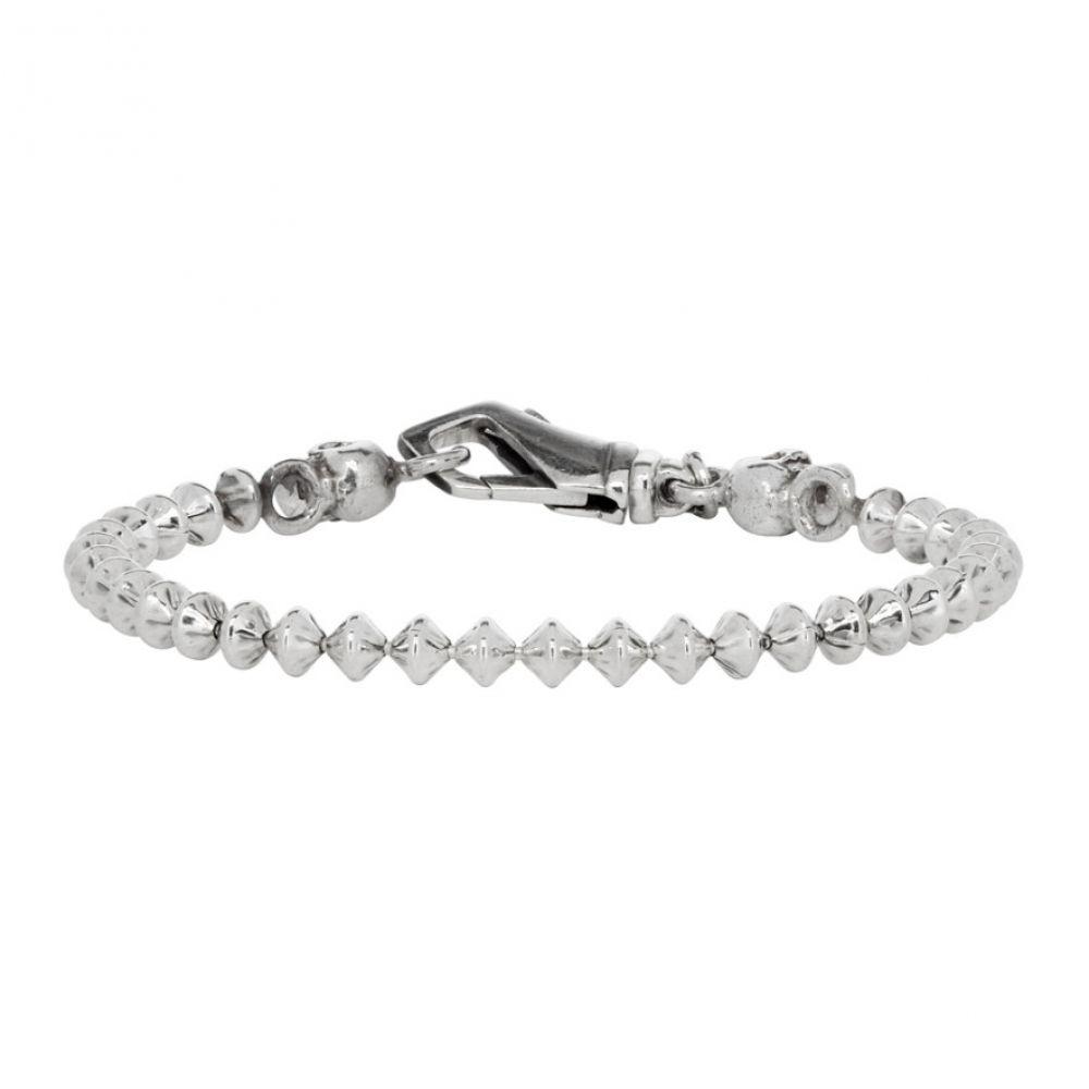 エマニュエレ ビコッキ Emanuele Bicocchi メンズ ジュエリー・アクセサリー ブレスレット【Silver Skull Throttle Chain Bracelet】