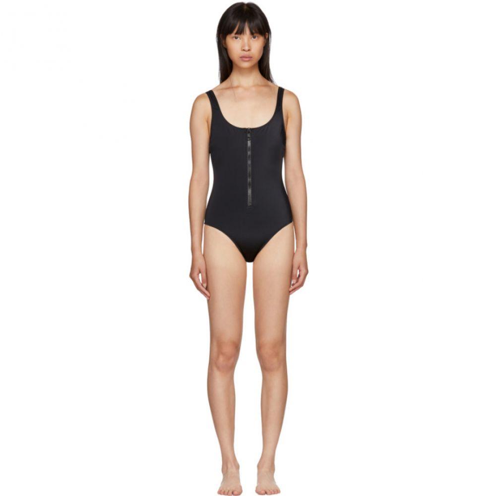 ソリッド&ストライプ Solid & Striped レディース 水着・ビーチウェア ワンピース【Black 'The Anne-Marie' Zip Swimsuit】