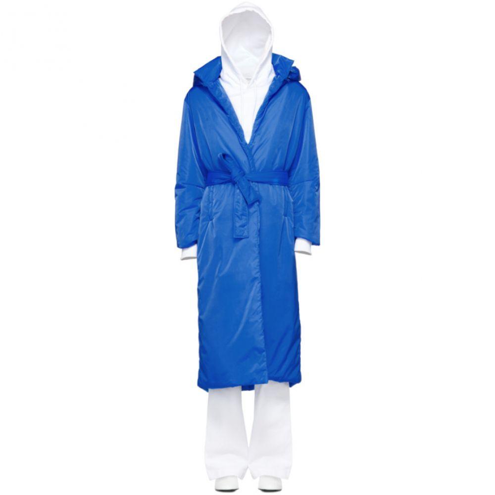 エープランアプリケーション A_Plan_Application レディース アウター ダウン・中綿ジャケット【Blue Long Puffer Coat】