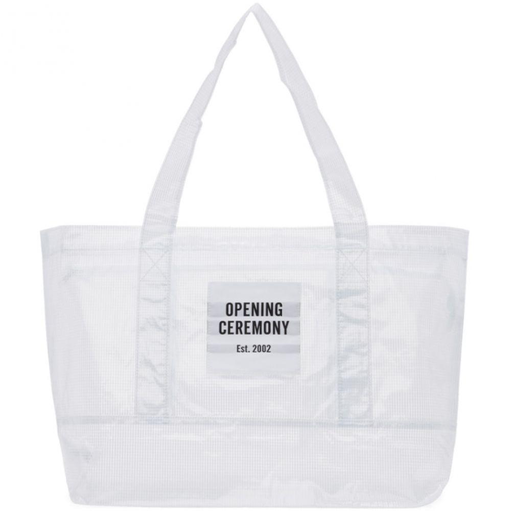 オープニングセレモニー Opening Ceremony レディース バッグ トートバッグ【SSENSE Exclusive White Medium Chinatown Tote】White