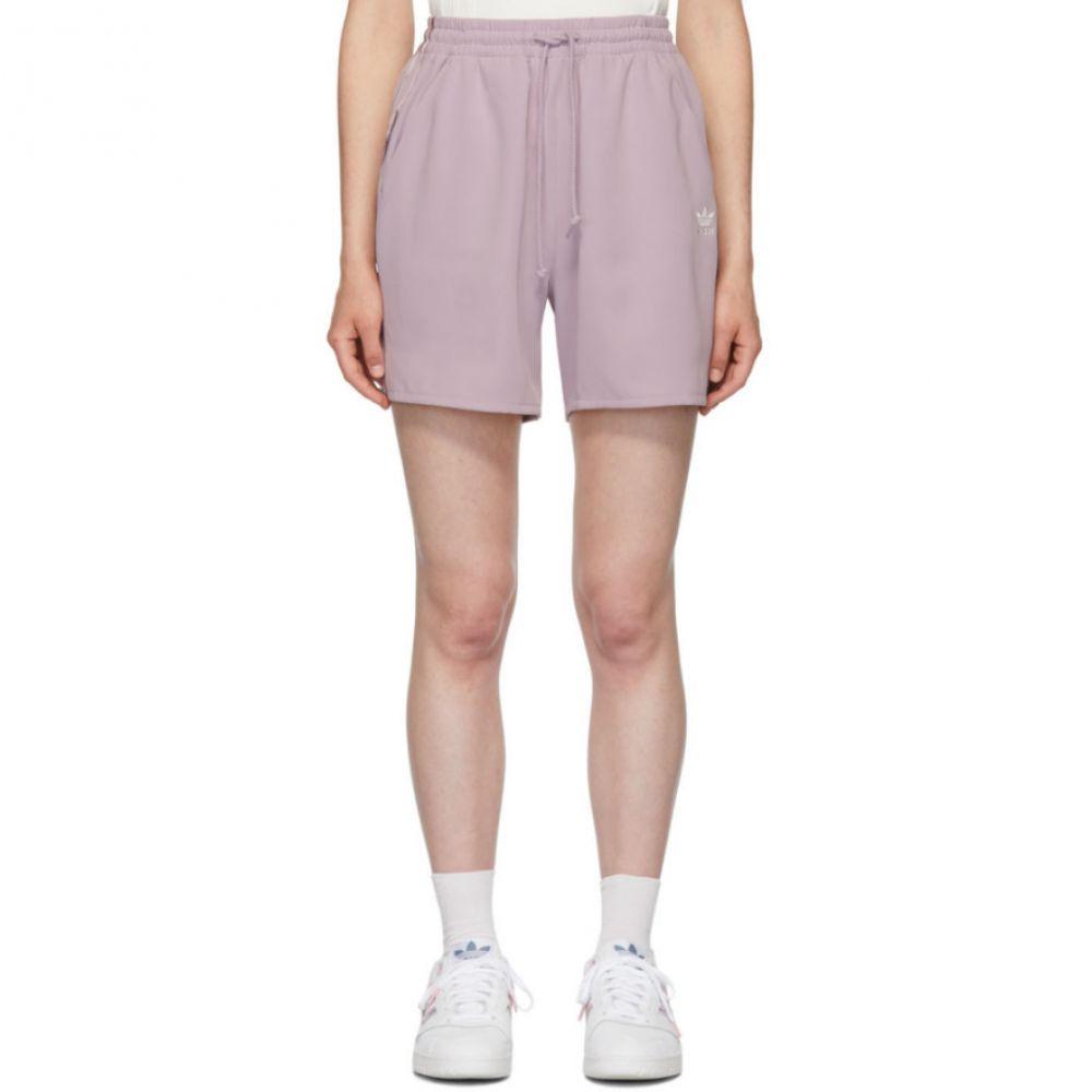 アディダス adidas Originals by Danielle Cathari レディース ボトムス・パンツ ショートパンツ【Purple Satin Shorts】Soft vision