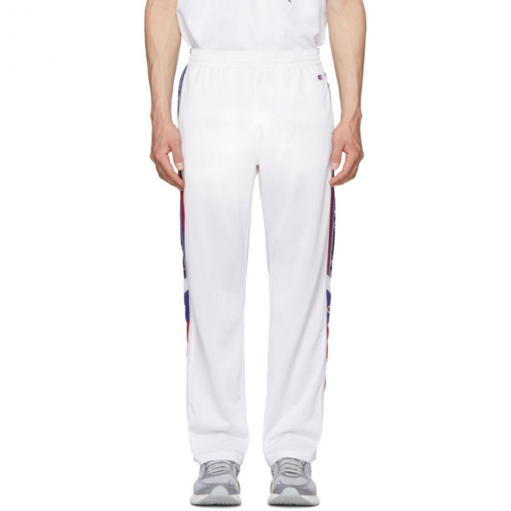 チャンピオン Champion Reverse Weave メンズ ボトムス・パンツ スウェット・ジャージ【White Side Stripe Lounge Pants】White