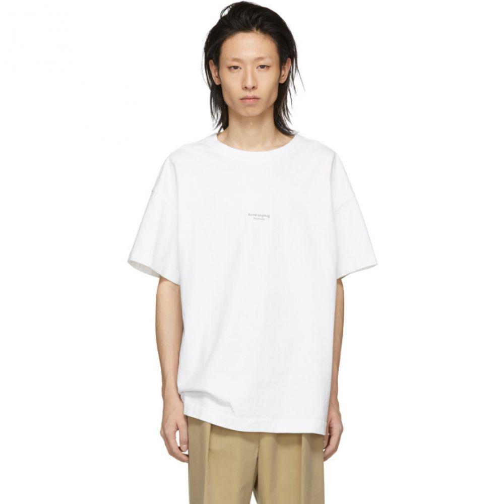 アクネ ストゥディオズ Acne Studios メンズ トップス Tシャツ【White Logo T-Shirt】