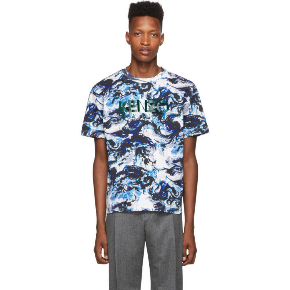 ケンゾー Kenzo メンズ トップス Tシャツ【Blue Paris Straight T-Shirt】White