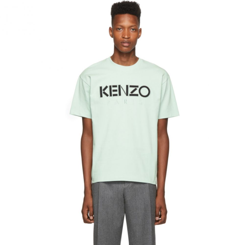 ケンゾー Kenzo メンズ トップス Tシャツ【Green Cotton Jersey Skate T-Shirt】Tea green