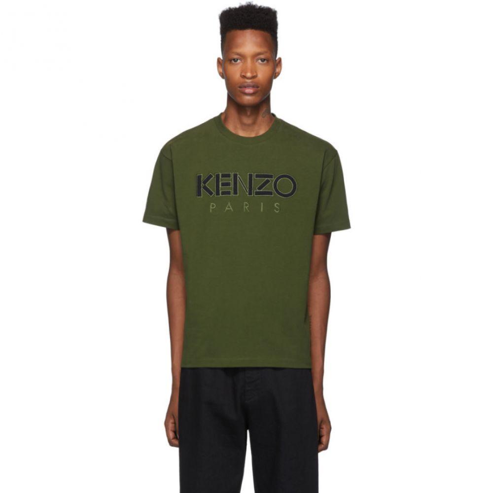 ケンゾー Kenzo メンズ トップス Tシャツ【Green Mesh Skate T-Shirt】Dark khaki