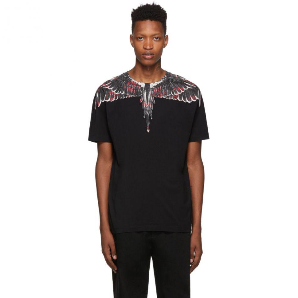 マルセロバーロン Marcelo Burlon County of Milan メンズ トップス Tシャツ【Black Flower Wings T-Shirt】Black multicolor