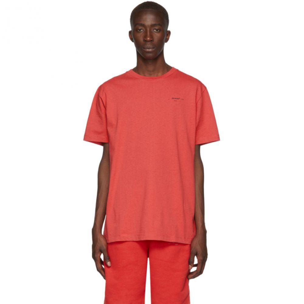 オフ-ホワイト Off-White メンズ トップス Tシャツ【Red Logo Slim T-Shirt】Red/Black