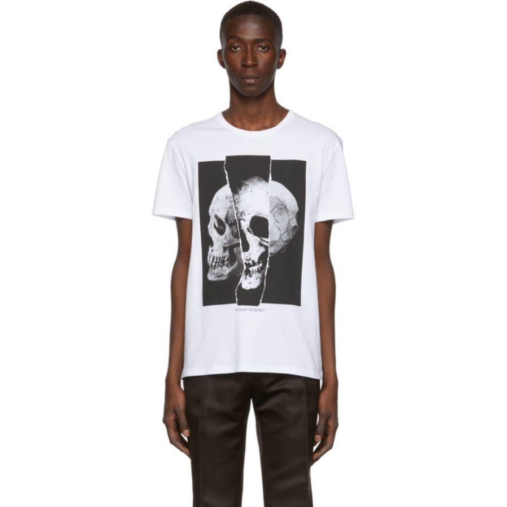 アレキサンダー マックイーン Alexander McQueen メンズ トップス Tシャツ【White Skull Punk T-Shirt】White/Black