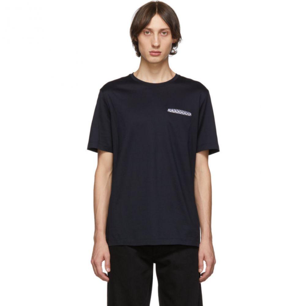 サルヴァトーレ フェラガモ Salvatore Ferragamo メンズ トップス Tシャツ【Navy Pocket T-Shirt】Navy
