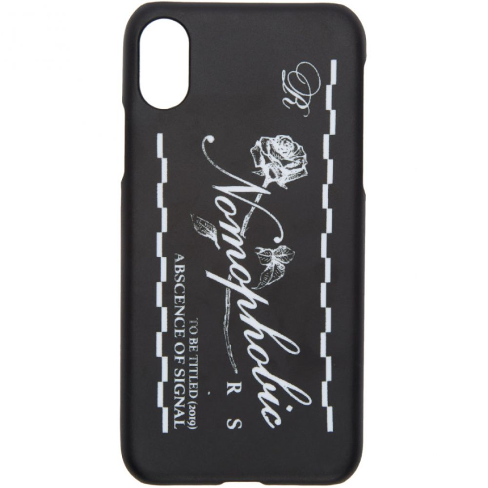 ラフ シモンズ Raf Simons メンズ iPhone (X)ケース【Black & White Logo iPhone X Case】Black/White