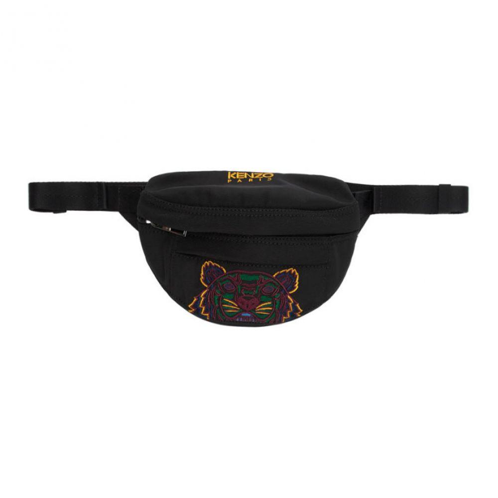 ケンゾー Kenzo メンズ バッグ ボディバッグ・ウエストポーチ【Black Mini Canvas Tiger Bum Bag】Black