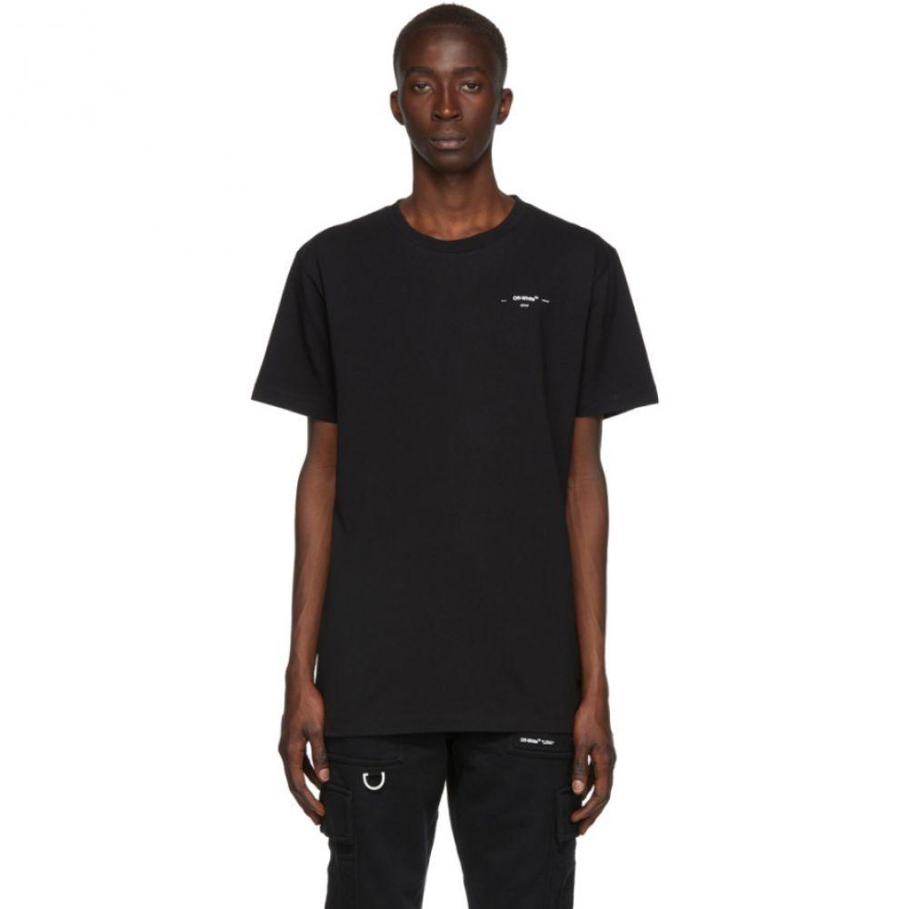 オフ-ホワイト Off-White メンズ トップス Tシャツ【Black & White Logo Slim T-Shirt】Black/White