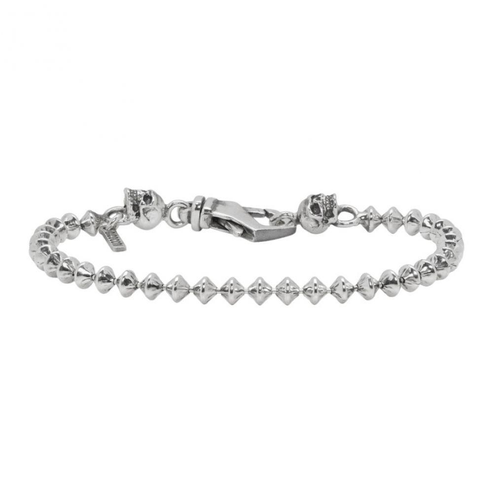 エマニュエレ ビコッキ Emanuele Bicocchi メンズ ジュエリー・アクセサリー ブレスレット【Silver Throttle Chain Bracelet】