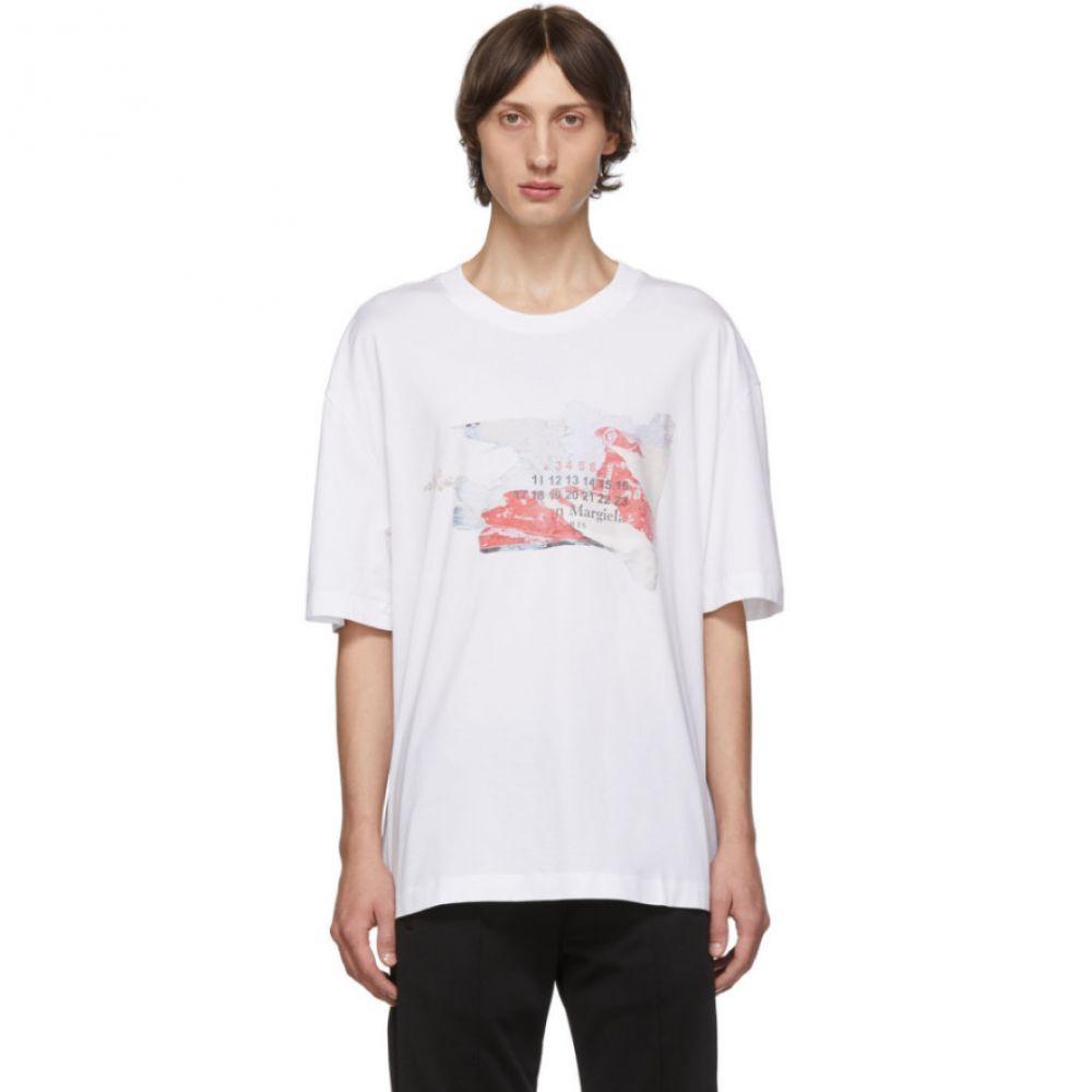 メゾン マルジェラ Maison Margiela メンズ トップス Tシャツ【White Logo Destroyed Tab T-Shirt】White