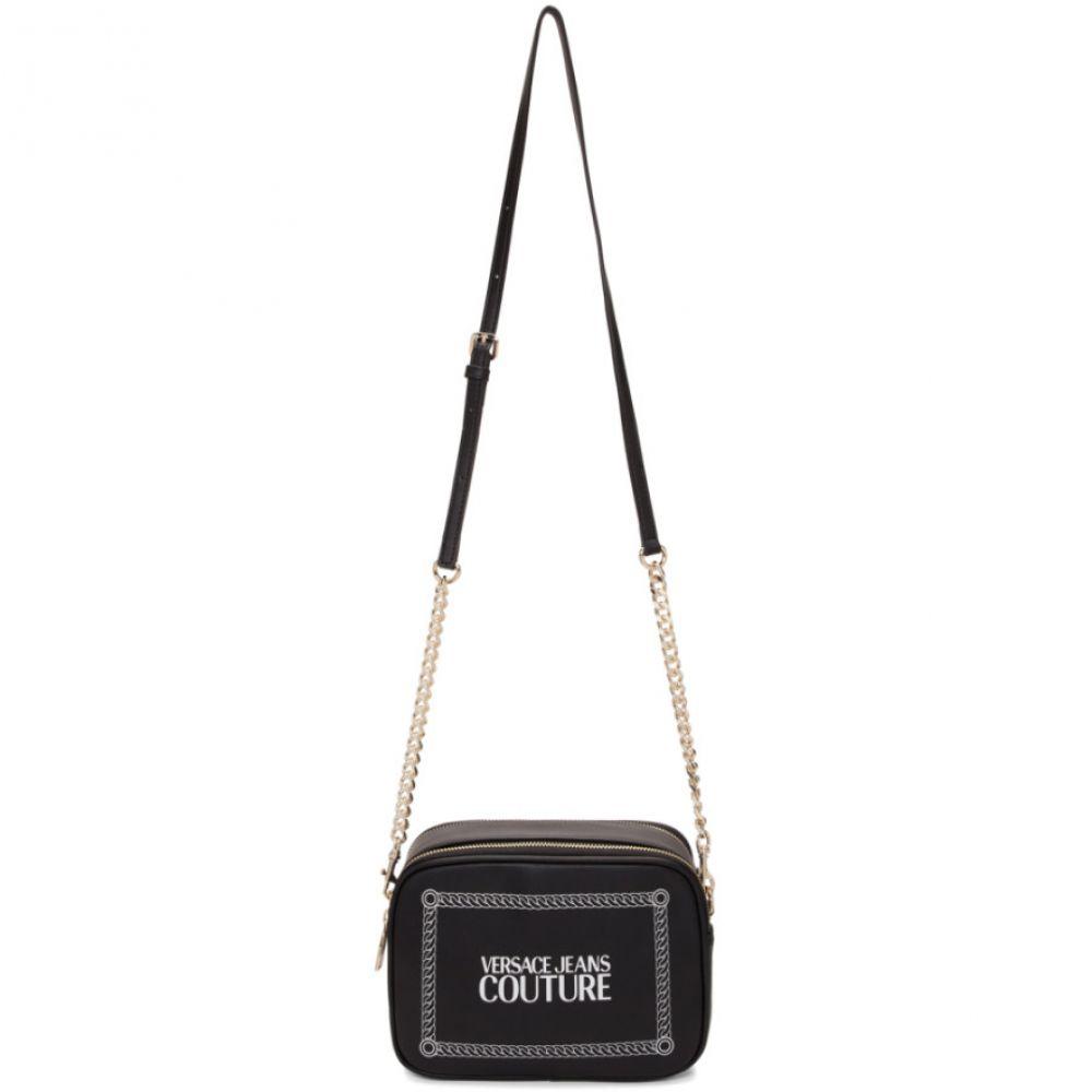 ヴェルサーチ Versace Jeans Couture レディース バッグ ショルダーバッグ【Black Stamped Logo Camera Bag】Black