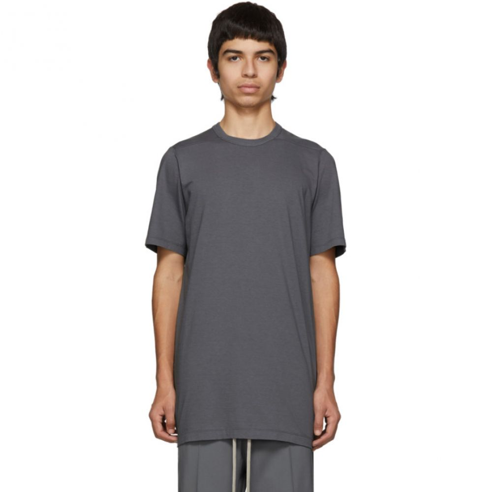 リック オウエンス Rick Owens メンズ トップス Tシャツ【Grey Level T-Shirt】Blue