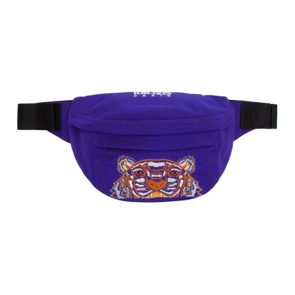 ケンゾー Kenzo メンズ バッグ ボディバッグ・ウエストポーチ【Blue Canvas Tiger Bum Bag】Slate blue