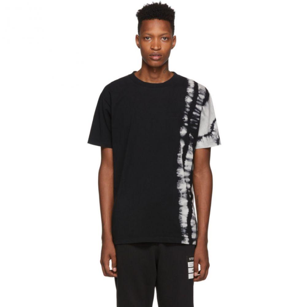 マルセロバーロン Marcelo Burlon County of Milan メンズ トップス Tシャツ【Black Tie-Dye T-Shirt】Black multicolor