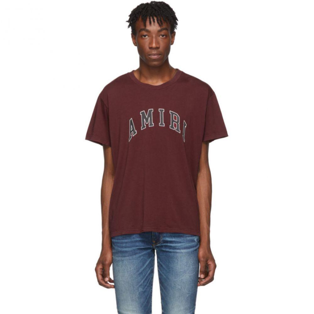 アミリ Amiri メンズ トップス Tシャツ【Burgundy College Logo T-Shirt】Burgundy