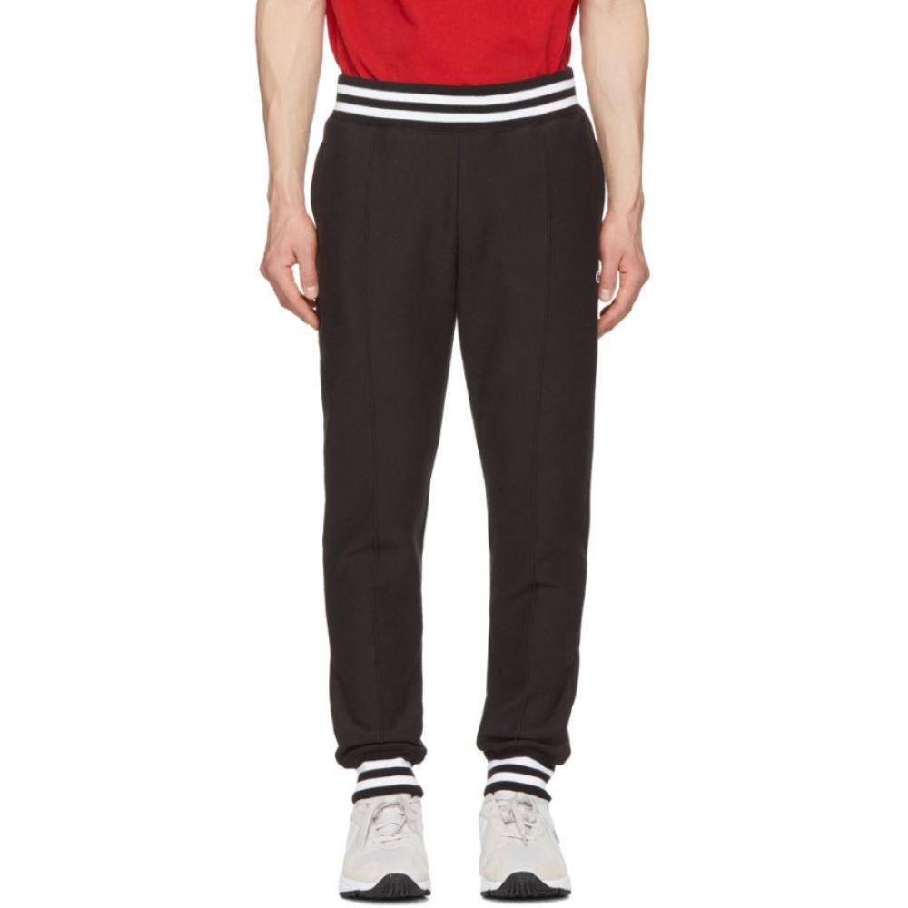 チャンピオン Champion Reverse Weave メンズ ボトムス・パンツ スウェット・ジャージ【Black Striped Rib Lounge Pants】Black
