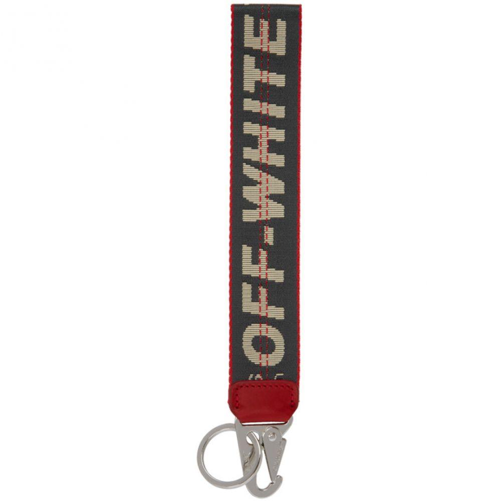 オフ-ホワイト メンズ 財布・時計・雑貨 キーホルダー Anthracite 【サイズ交換無料】 オフ-ホワイト Off-White メンズ キーホルダー【Grey Industrial Keychain】Anthracite