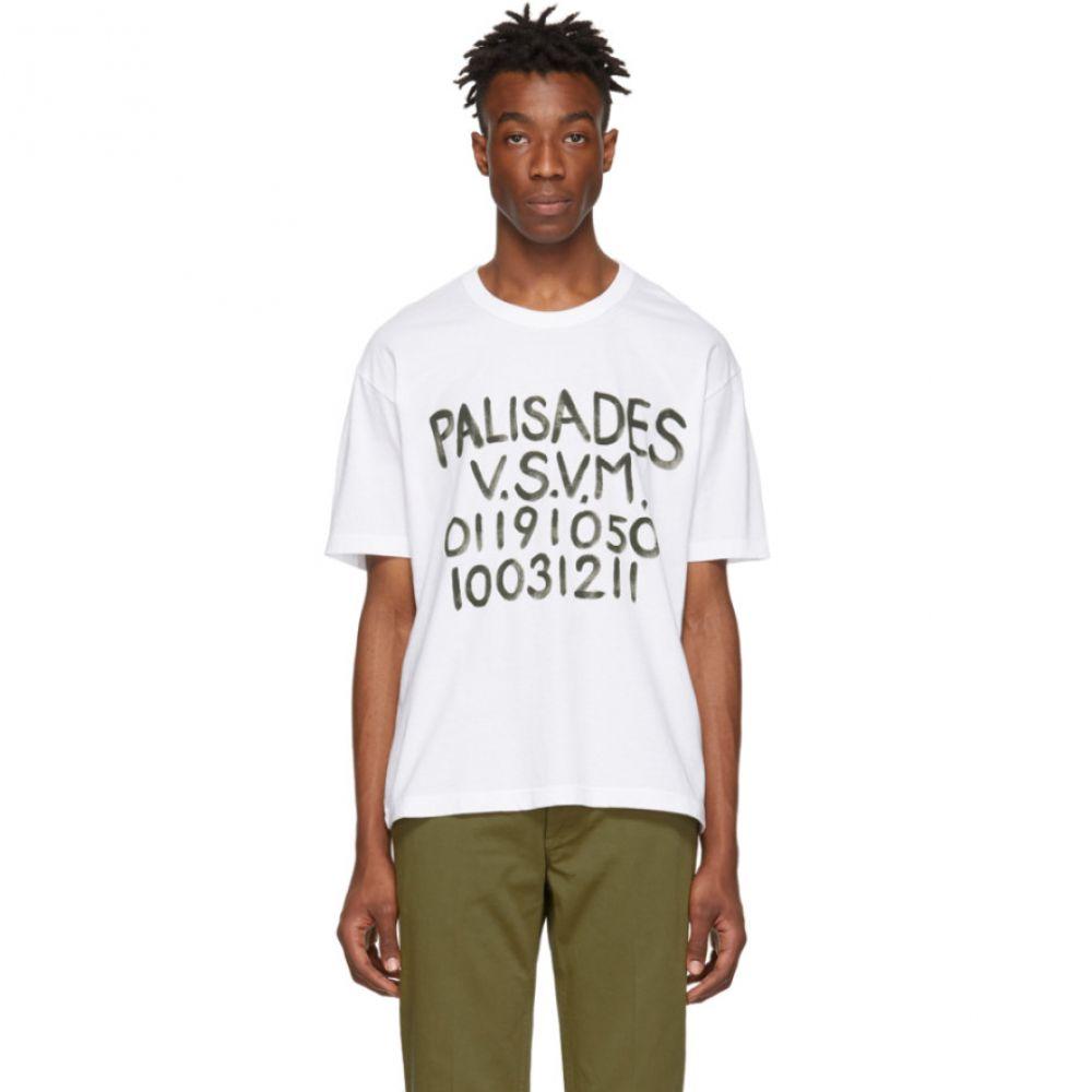 ビズビム Visvim メンズ トップス Tシャツ【White Jumbo 'Palisades' T-Shirt】