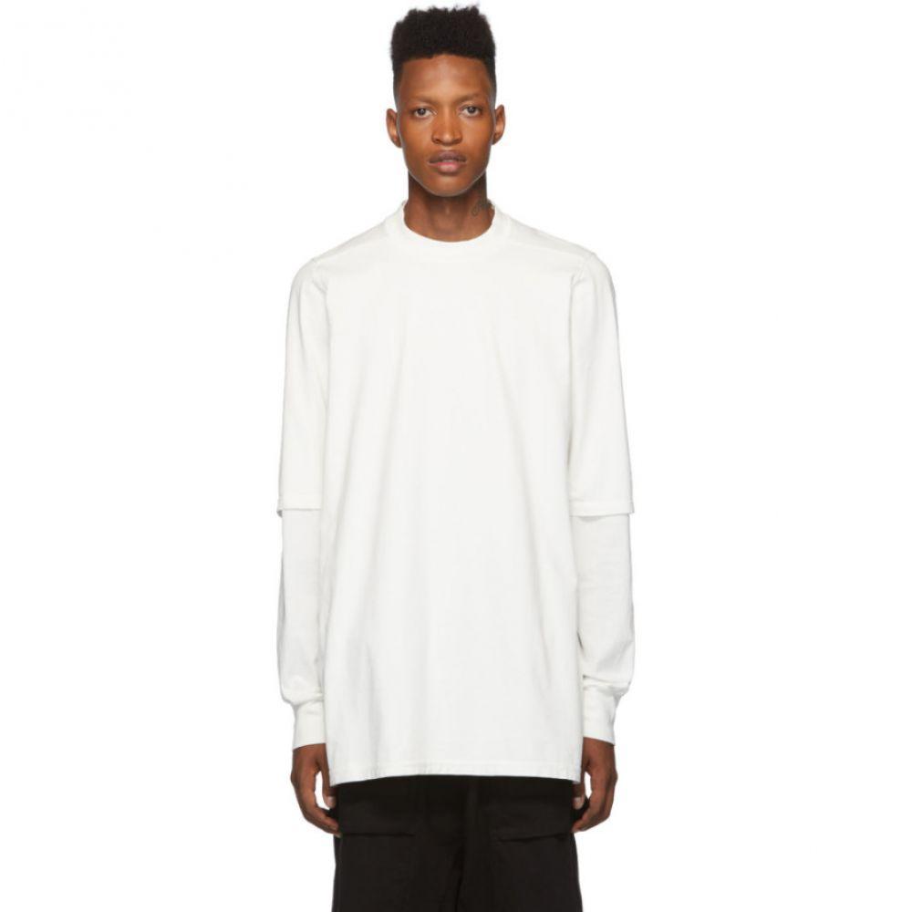 リック オウエンス Rick Owens Drkshdw メンズ トップス Tシャツ【White Hustler T-Shirt】Milk