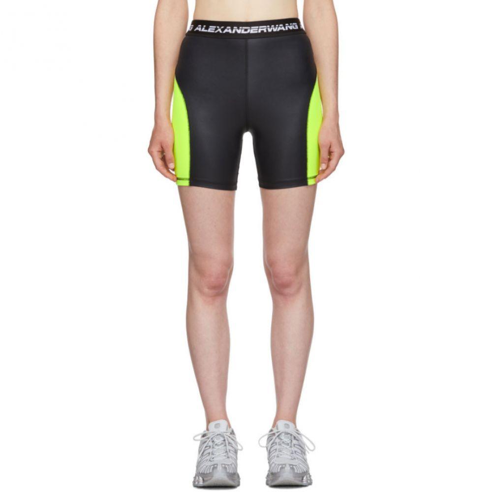 アレキサンダー ワン alexanderwang.t レディース ボトムス・パンツ ショートパンツ【Black & Yellow Logo Elastic Wash & Go Biker Shorts】Zest/Black