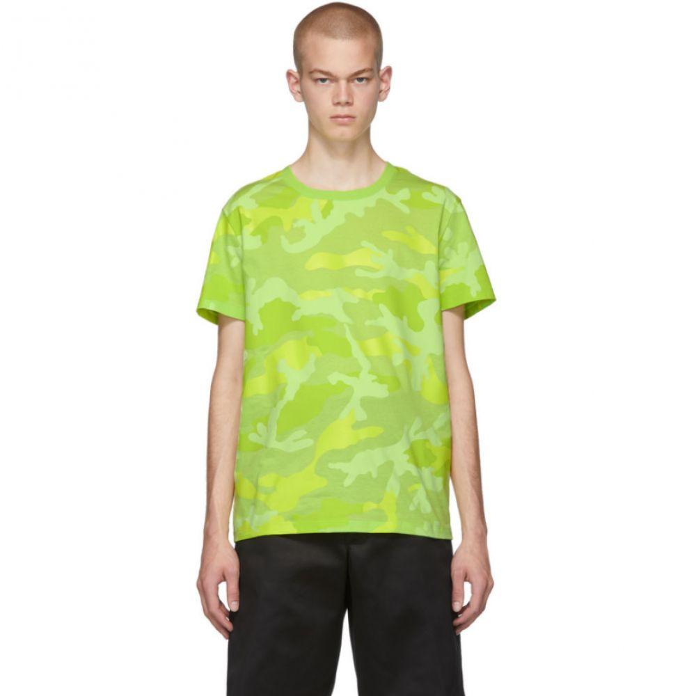 ヴァレンティノ Valentino メンズ トップス Tシャツ【Yellow Camo Fluo T-Shirt】Camou giallo
