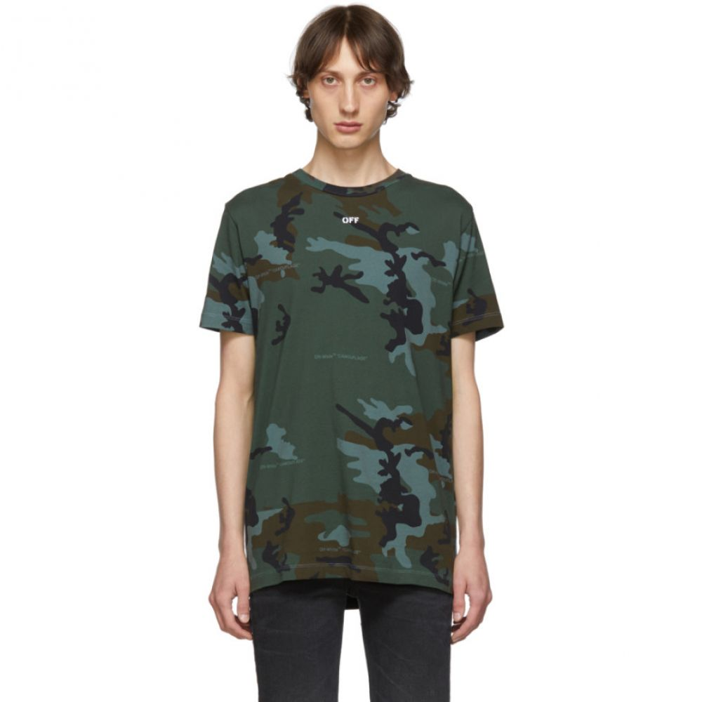 オフ-ホワイト Off-White メンズ トップス Tシャツ【Mutlitcolor Camo Incompiuto Slim T-Shirt】Camouflage
