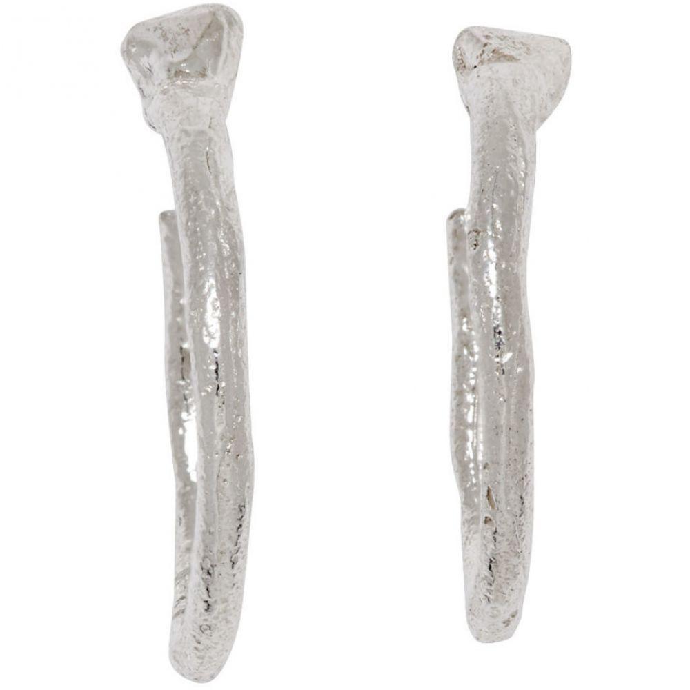 パールズ ビフォア スワイン Pearls Before Swine メンズ ジュエリー・アクセサリー イヤリング・ピアス【Silver Polished Loop Earrings】Silver