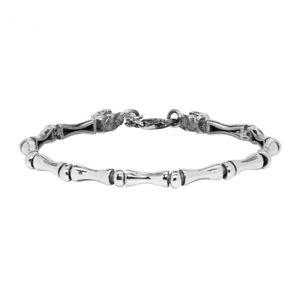 エマニュエレ ビコッキ Emanuele Bicocchi メンズ ジュエリー・アクセサリー ブレスレット【Silver Bone Bracelet】Silver