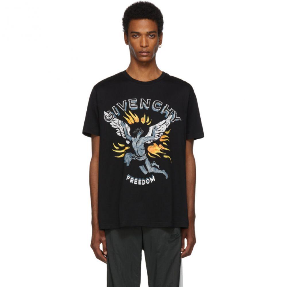 ジバンシー Givenchy メンズ トップス Tシャツ【Black 'Freedom' Icarus Regular Fit T-Shirt】Black
