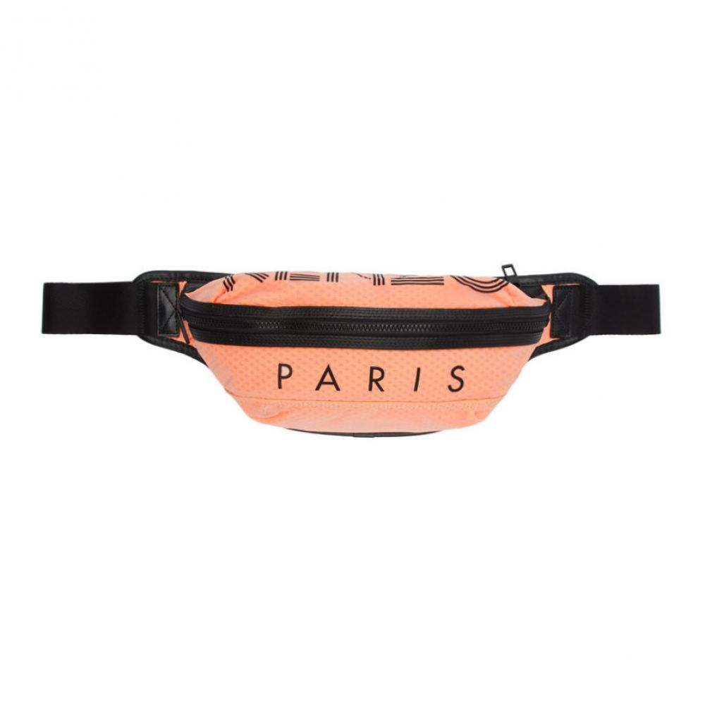 ケンゾー Kenzo メンズ バッグ ボディバッグ・ウエストポーチ【Orange Transparent Sport Logo Bum Bag】Marigold