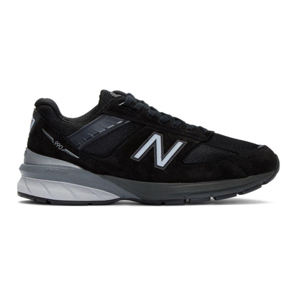 ニューバランス New Balance メンズ シューズ・靴 スニーカー【Black & Silver US Made 990 v5 Sneakers】Black/Silver