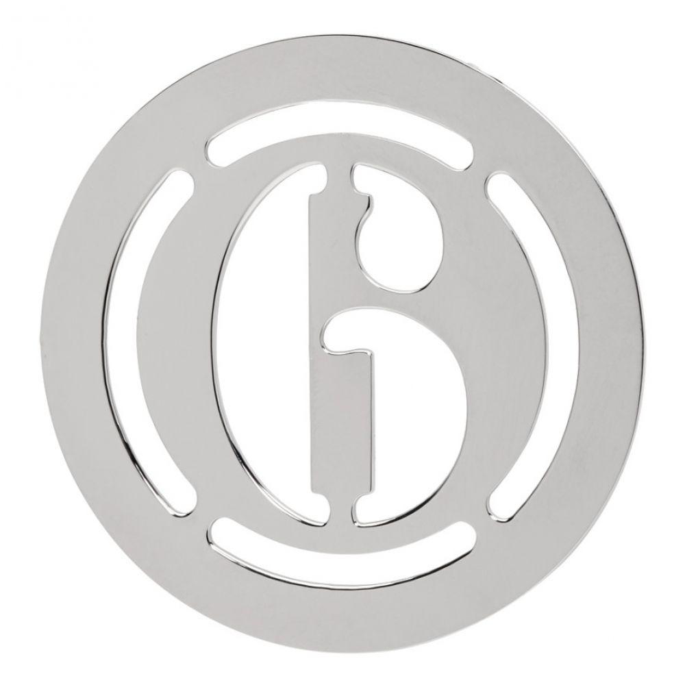 メゾン マルジェラ MM6 Maison Margiela レディース ジュエリー・アクセサリー イヤリング・ピアス【Silver Logo Earring】Silver