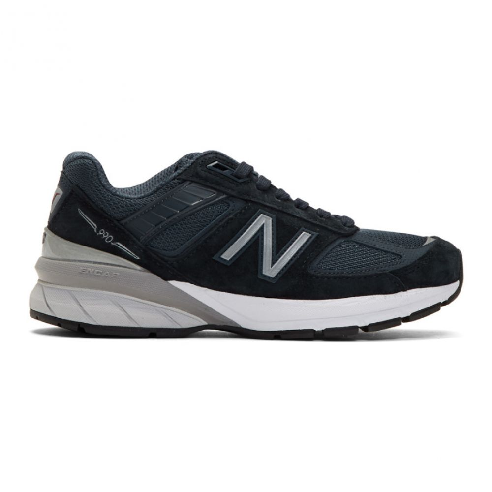ニューバランス New Balance レディース シューズ・靴 スニーカー【Navy 990V5 Sneakers】Navy/Silver