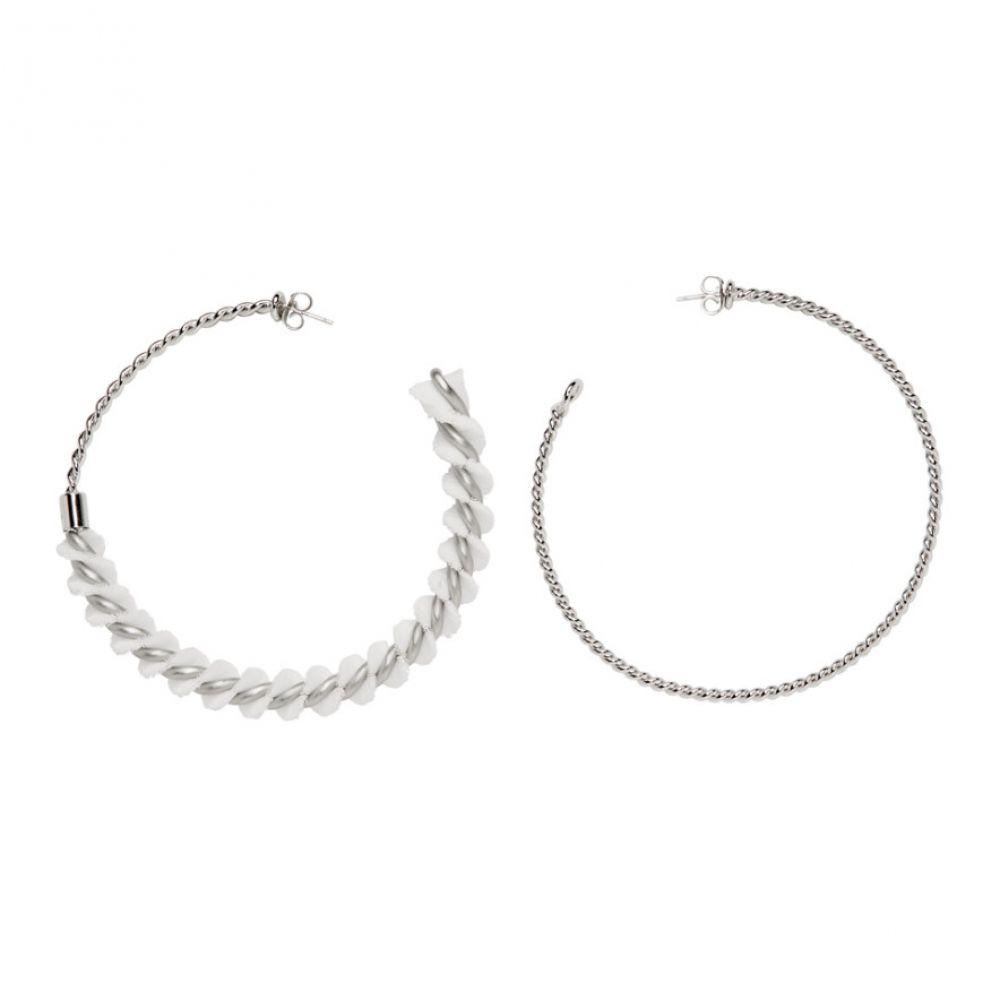 メゾン マルジェラ MM6 Maison Margiela レディース ジュエリー・アクセサリー イヤリング・ピアス【Silver Spiral Hoops】Silver
