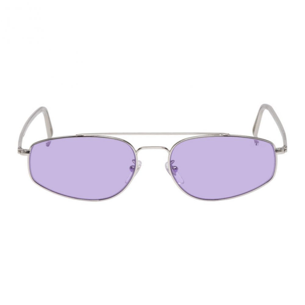 スーパー Super メンズ メガネ・サングラス【Silver & Purple Tema Sunglasses】Silver/Purple haze