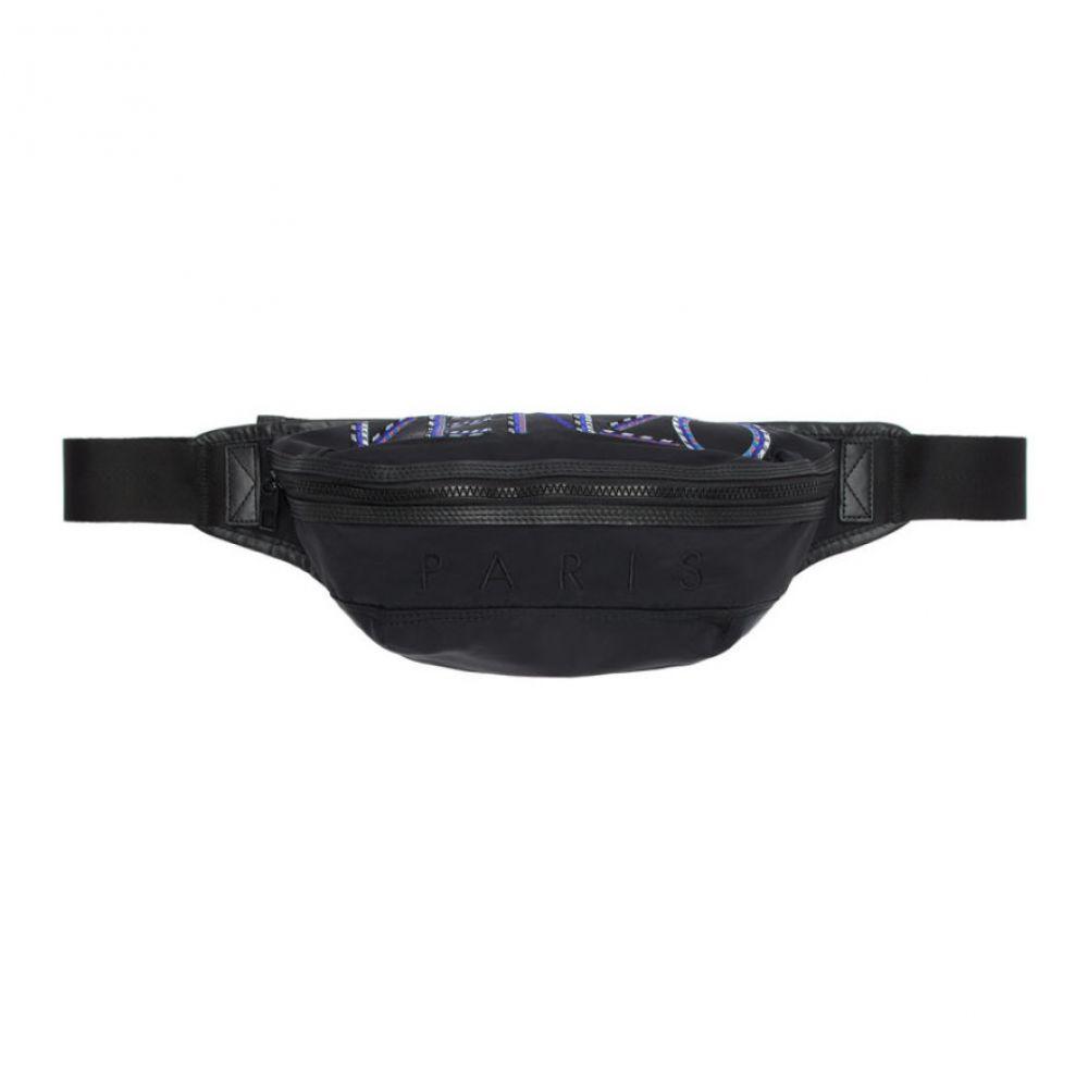 ケンゾー Kenzo メンズ バッグ ボディバッグ・ウエストポーチ【Black Nylon Sport Cord Bum Bag】Black