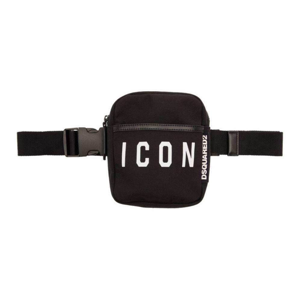 ディースクエアード Dsquared2 メンズ バッグ ボディバッグ・ウエストポーチ【Black Nylon Icon Belt Bag】Black