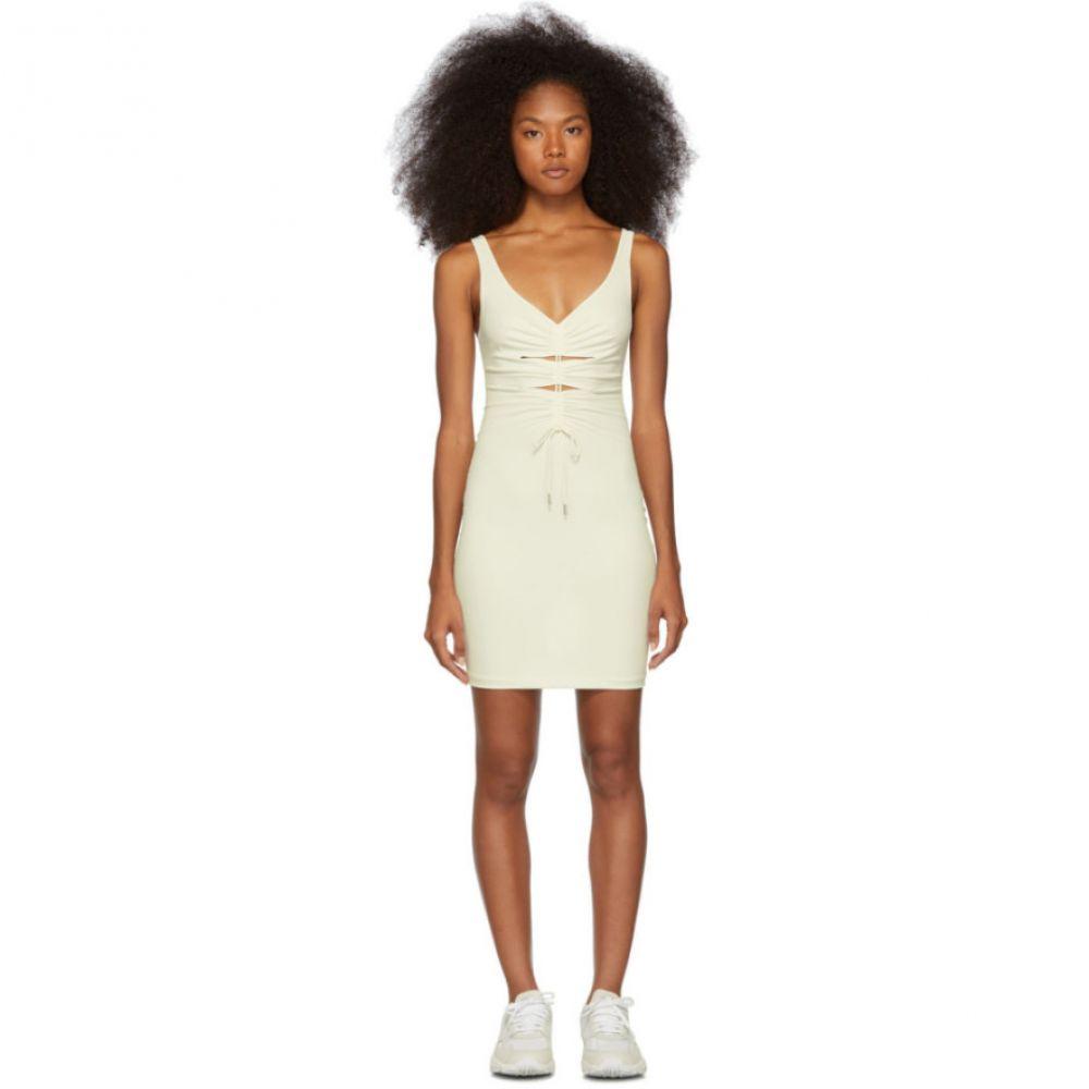 アレキサンダー ワン alexanderwang.t レディース ワンピース・ドレス ワンピース【Off-White Crepe Jersey Dress】Cream