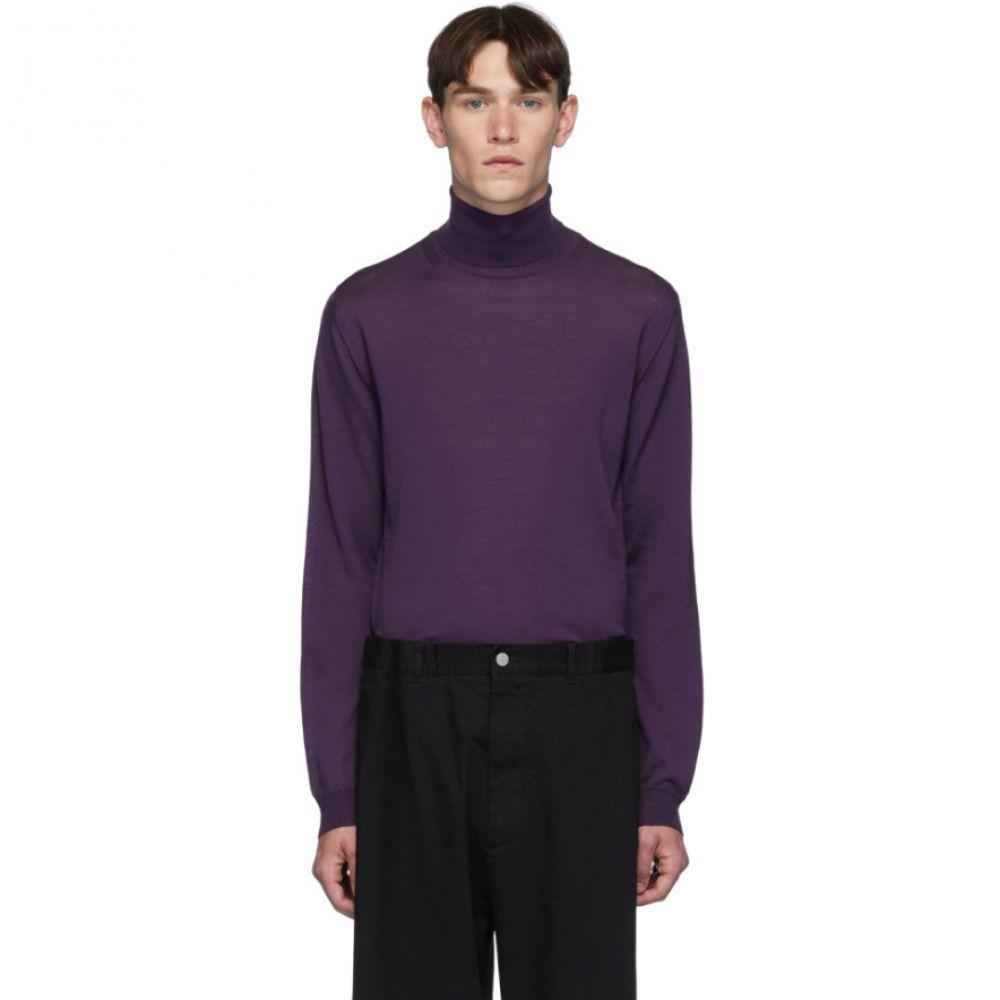 ランバン Lanvin メンズ トップス【Purple Shoulder Contrast Turtleneck】Purple