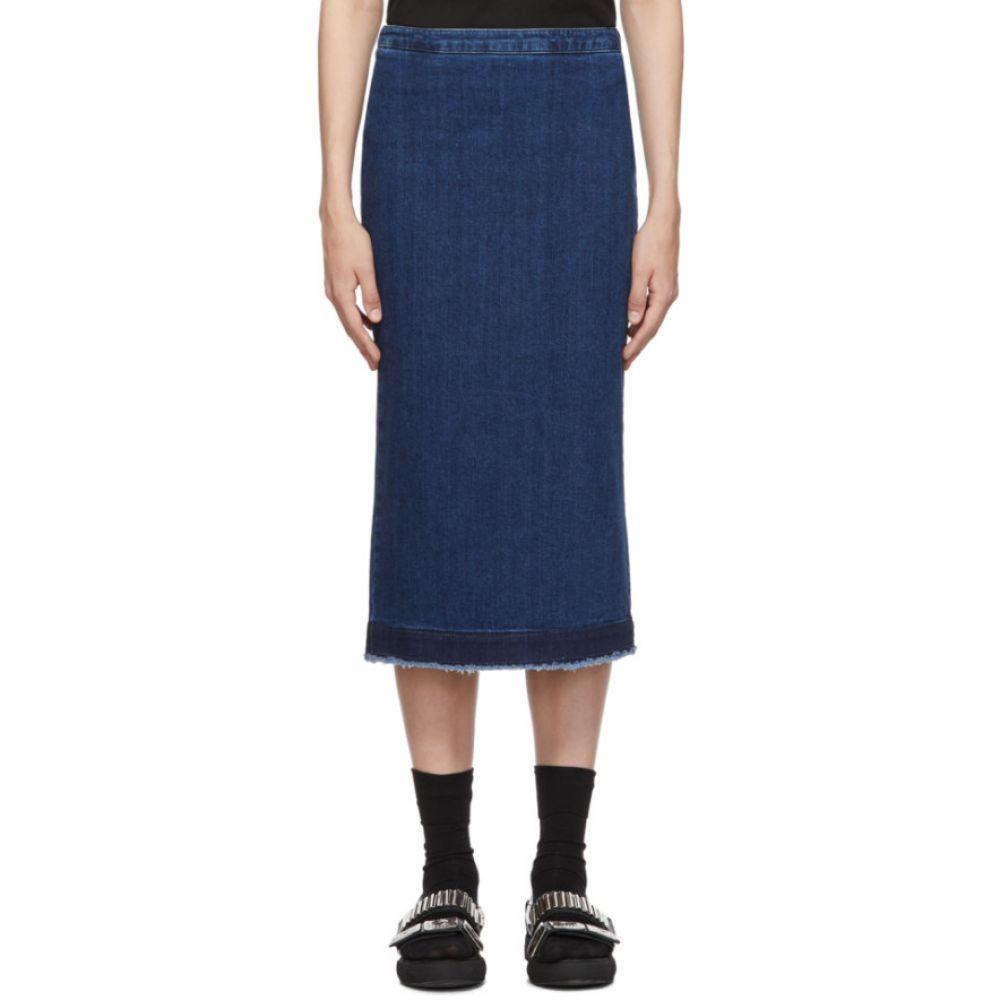 アレキサンダー マックイーン McQ Alexander McQueen レディース スカート【Blue Kick Back Godet Skirt】Wash blue
