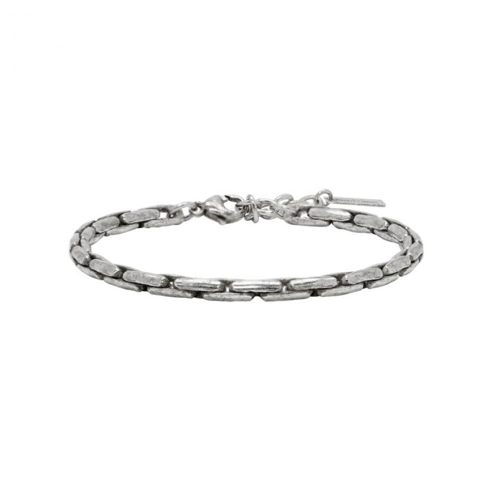イヴ サンローラン Saint Laurent メンズ ジュエリー・アクセサリー ブレスレット【Silver Ovale Bracelet】Oxidized silver