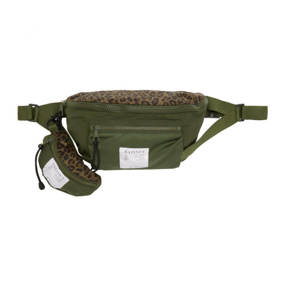 サティスフィ Satisfy メンズ バッグ ボディバッグ・ウエストポーチ【Khaki Army Patchwork Belt Bag】Army patchwork