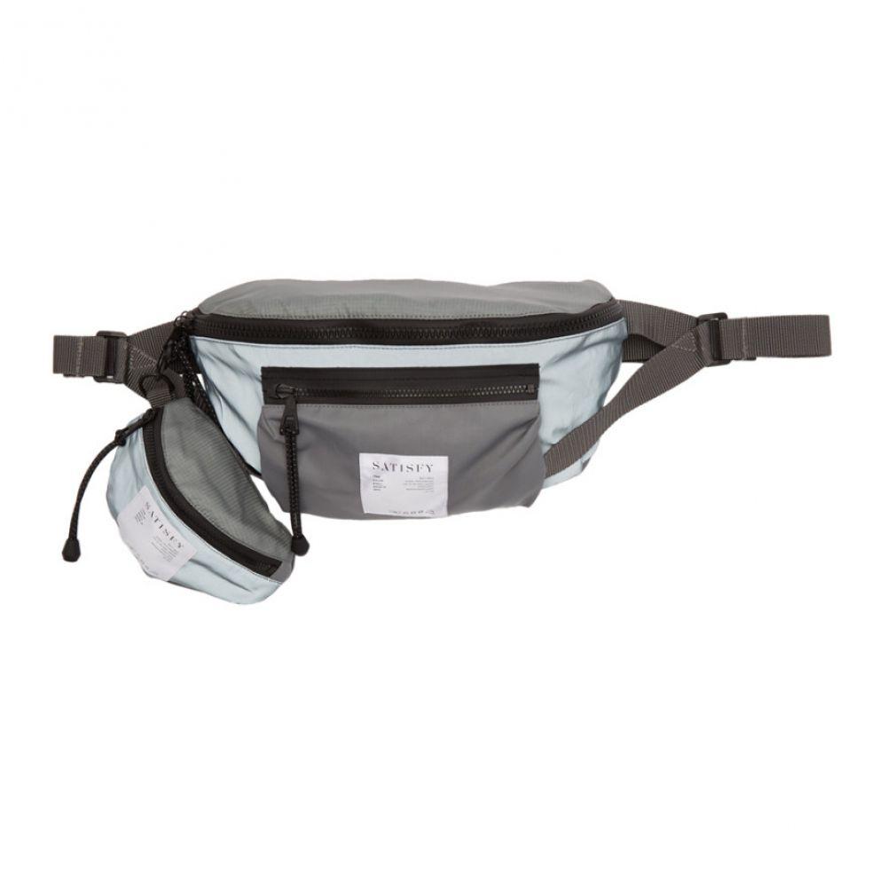 サティスフィ Satisfy メンズ バッグ ボディバッグ・ウエストポーチ【Grey Reflective Logo Belt Bag】Steel patchwork