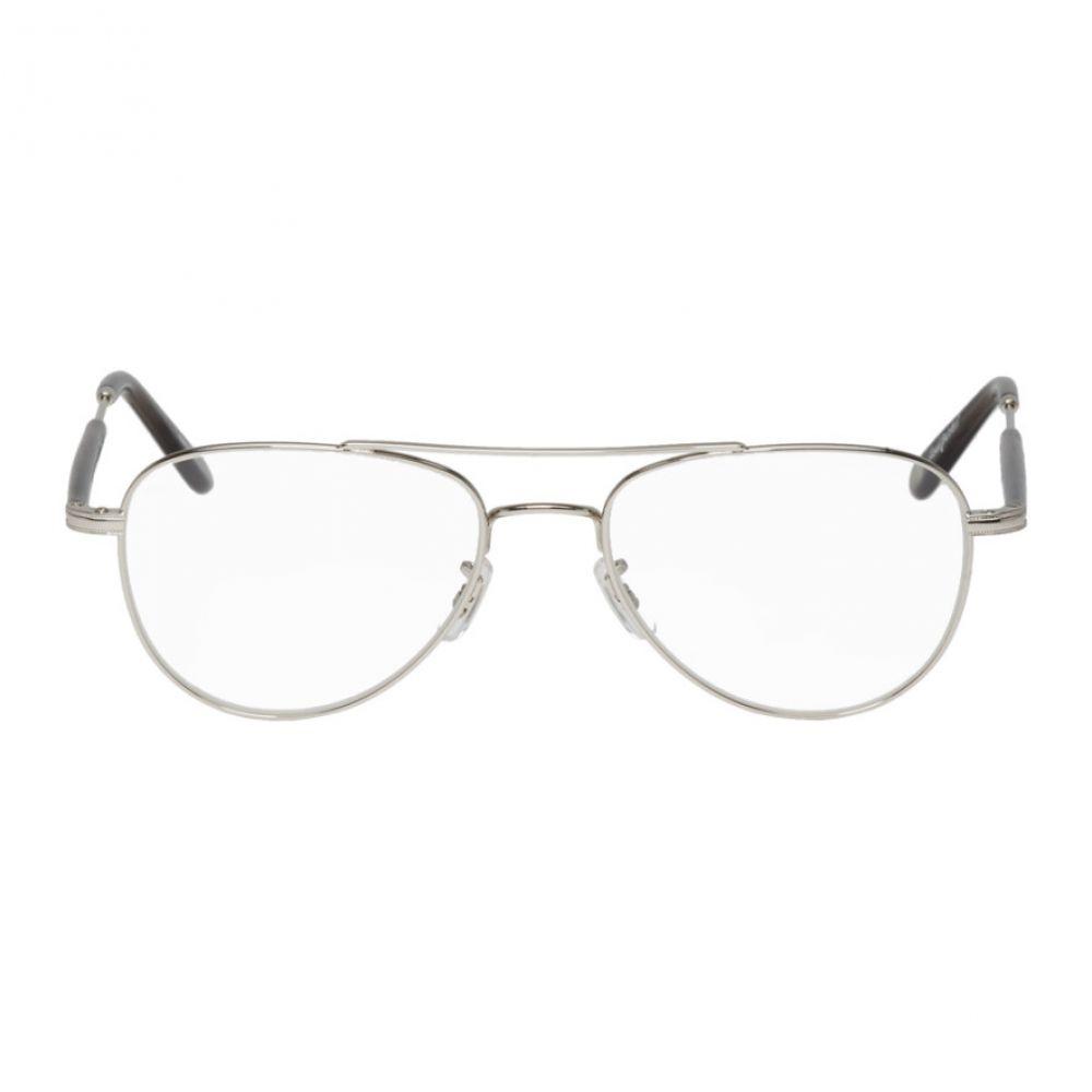 ギャレットライト Garrett Leight メンズ メガネ・サングラス【Silver & Grey Transparent Linnie Glasses】Silver/Grey crystal